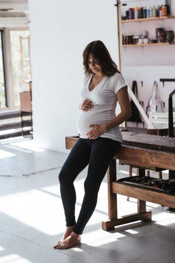 LEGGINSY ciążowe - granatowe