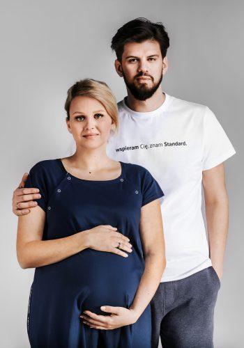 """T-shirt FUNDACJI RODZIĆ PO LUDZKU """"wspieram Cię. znam Standard."""""""