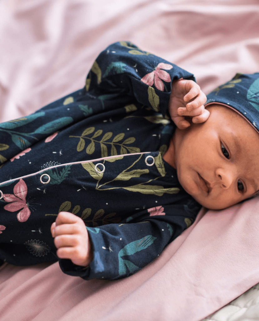 Baby Sleepsuit - night meadow