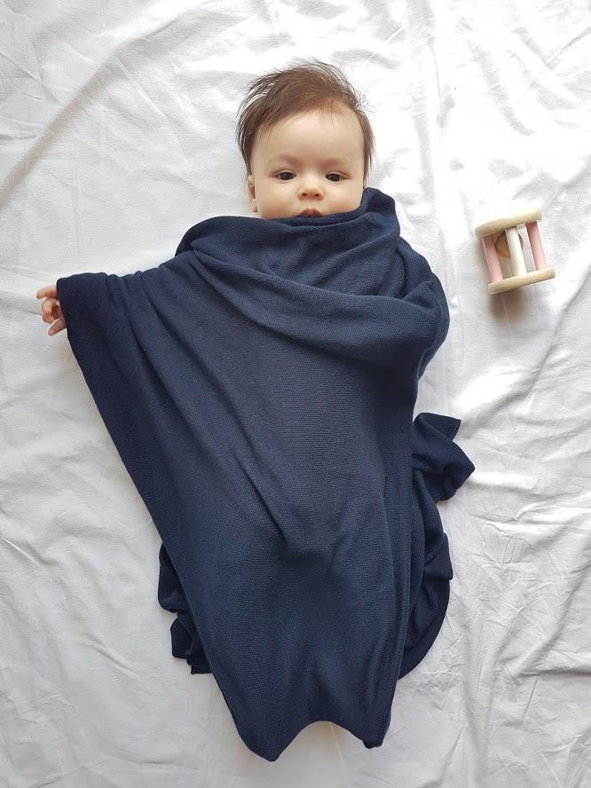 Bamboo blankeet navy blue