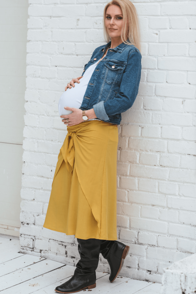 BALANCE skirt with a tie - yellow